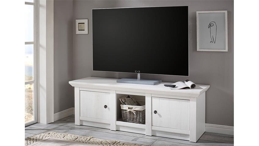 Lowboard WESTERLAND TV-Unterteil in Pinie weiß