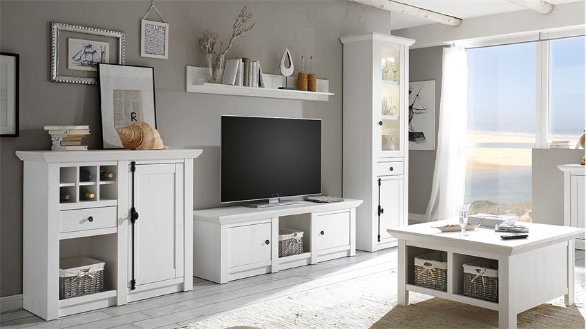wohnwand 2 westerland anbauwand in pinie wei. Black Bedroom Furniture Sets. Home Design Ideas