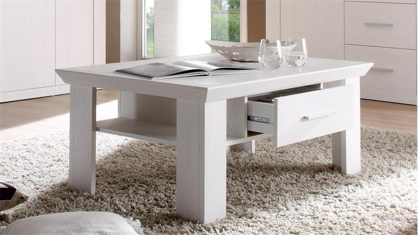 couchtisch garden tisch in pinie wei 110x70 cm. Black Bedroom Furniture Sets. Home Design Ideas