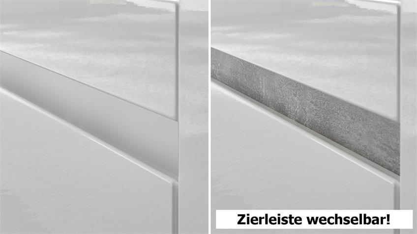 Highboard CARAT Sideboard Anrichte in weiß Hochglanz