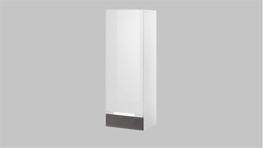 h ngeschrank concept one schrank in wei hochglanz und stone grau. Black Bedroom Furniture Sets. Home Design Ideas