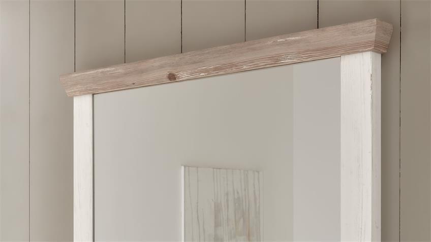 Spiegel 77 FLORENZ Wandspiegel Oslo Pinie weiß 107x110