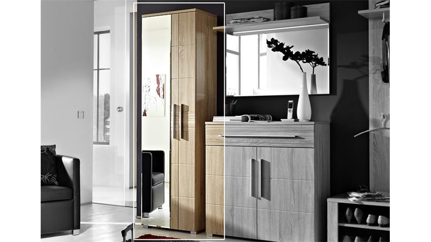 spiegelschrank point schrank garderobe in sonoma eiche hell. Black Bedroom Furniture Sets. Home Design Ideas
