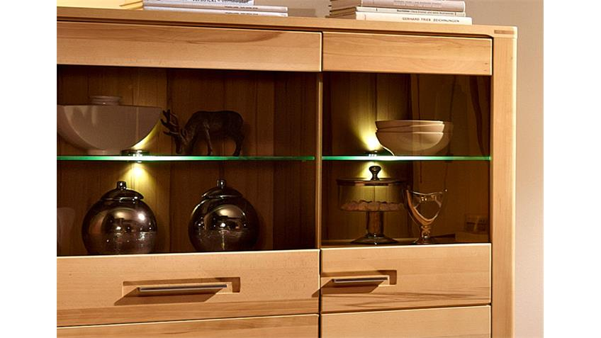 Highboard Nature Plus Schrank Kernbuche massiv lackiert
