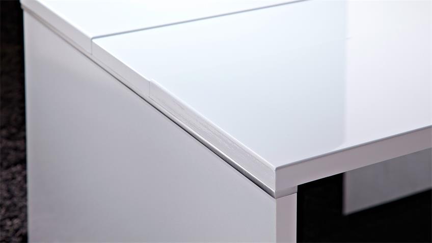 Couchtisch MANHATTAN Wohnzimmertisch in weiß hochglanz