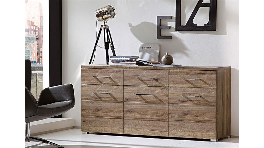 sideboard deal kommode san remo eiche 3 t rig 3 schubk sten. Black Bedroom Furniture Sets. Home Design Ideas