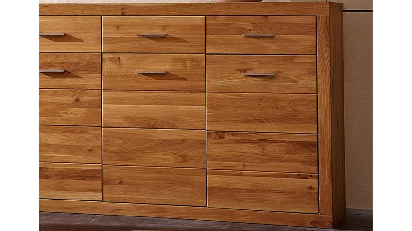 sideboard pur kommode anrichte in wildeiche massiv 3 t rig. Black Bedroom Furniture Sets. Home Design Ideas