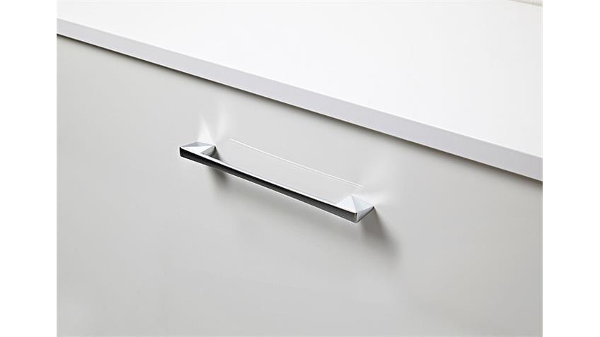 TV Board GO TV Kommode in weiß Hochglanz und Chrom 163 cm