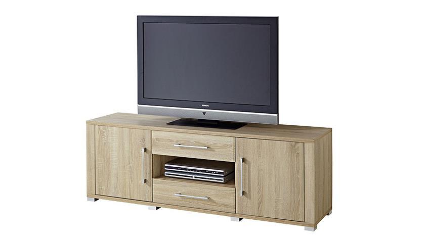 TV-Board GO Sonoma Eiche sägerau hell Chrom 163 cm