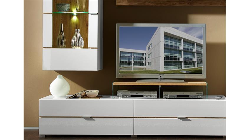 Wohnwand FRESH 2 Hochglanz weiß inkl. LED
