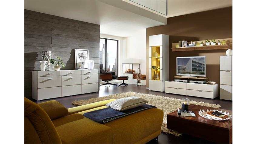 Sideboard FRESH Kommode Wohnzimmer in Hochglanz weiß