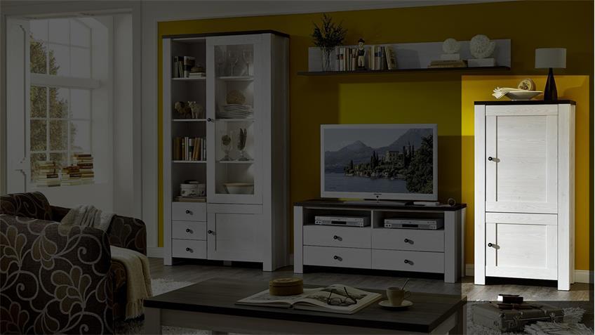 stauraumelement antwerpen schrank in l rche pinie dunkel. Black Bedroom Furniture Sets. Home Design Ideas