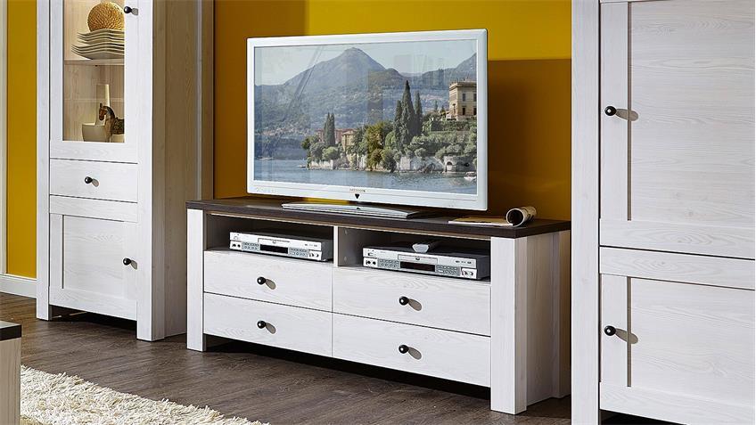 TV-Board ANTWERPEN Unterschrank in Lärche und Pinie dunkel