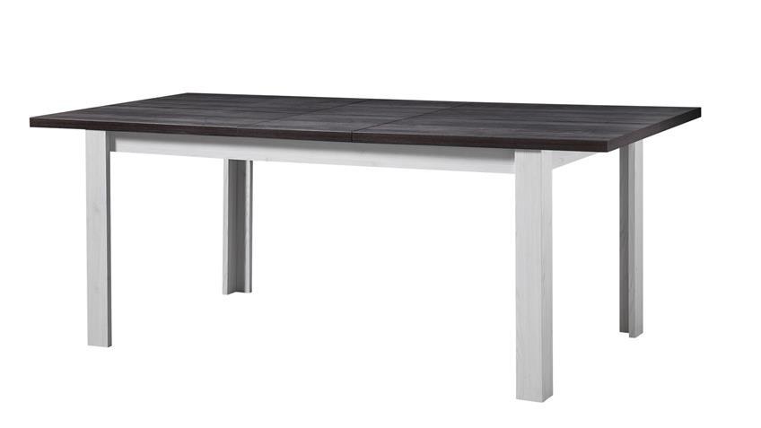 Tischgruppe ANTWERPEN Tisch Bank in Lärche Pinie dunkel