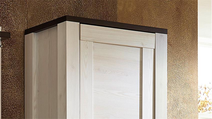Garderobenschrank 1 ANTWERPEN in Lärche und Pinie dunkel