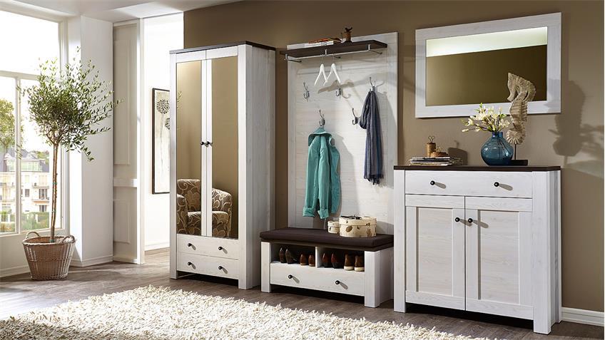 garderobenset antwerpen 1 flurm bel in l rche pinie dunkel. Black Bedroom Furniture Sets. Home Design Ideas