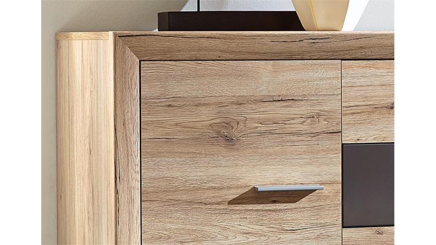 Sideboard SWING San Remo Eiche hell Graphit