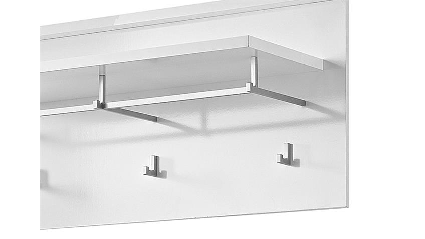 Garderobenpaneel SPOT Garderobe Paneel in weiß hochglanz