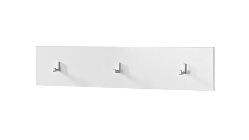 Garderobenpaneel 2 SPOT Garderobe Paneel in weiß hochglanz