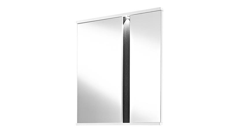 Spiegel SPOT Weiß Hochglanz Schiefer inkl. LED