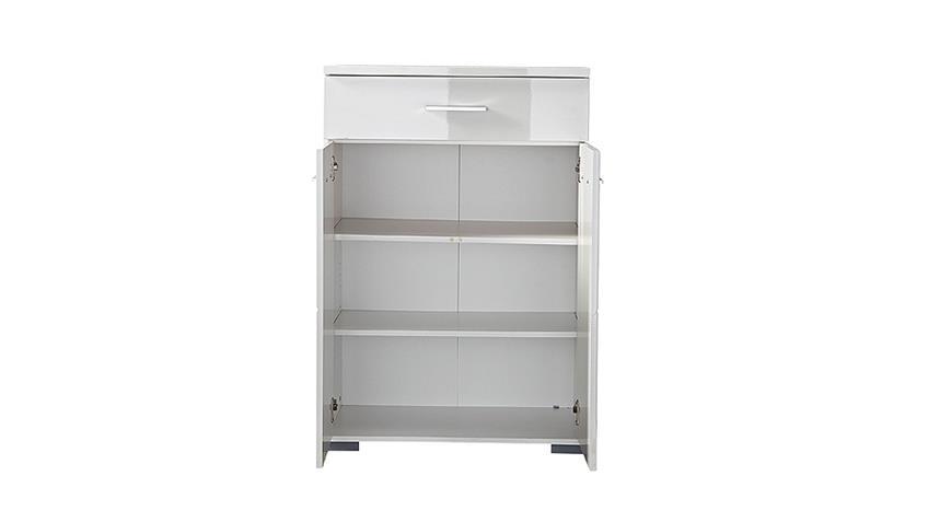 Schuhschrank 2 SPOT Garderobe Schrank in weiß hochglanz