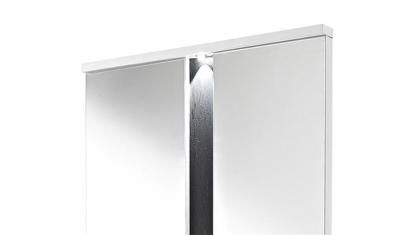 Spiegel 2 SPOT weiß und  Schiefer inkl. LED