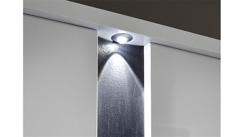 Garderobenset 3 SPOT Weiß Hochglanz Schiefer inkl. LED
