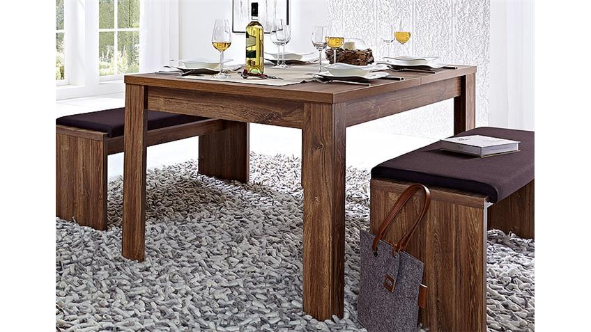 Esstisch BRÜSSEL Tisch ausziehbar in Akazie dunkel 160-240