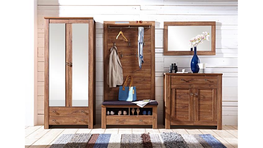 Garderobenset 1 BRÜSSEL Garderobe Set in Akazie dunkel