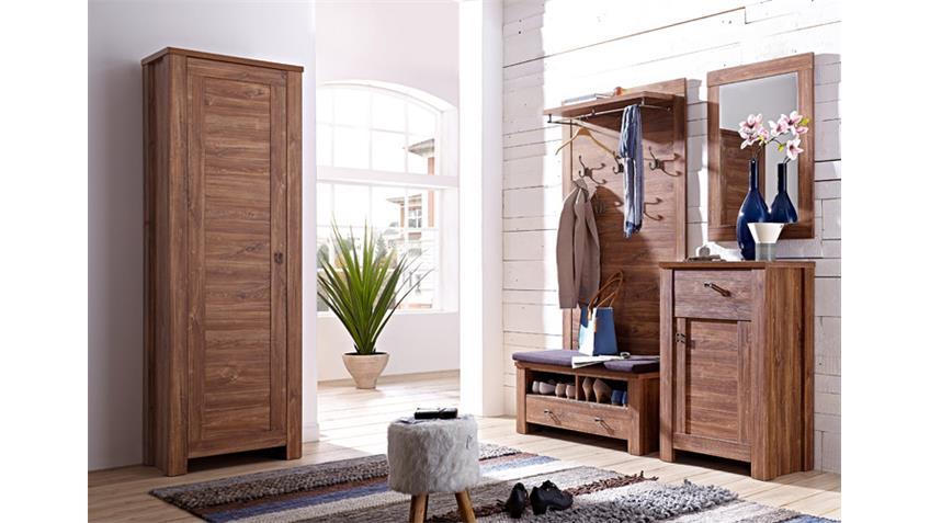 Garderobenset 2 br ssel garderobe set in akazie dunkel for Set garderobe