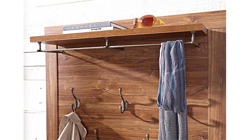 Garderobenset 2 BRÜSSEL Garderobe Set in Akazie dunkel