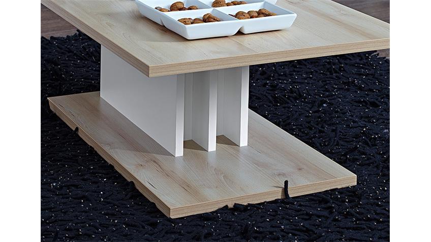 Couchtisch POP Beistelltisch Tisch in Buche hell weiß 110 cm