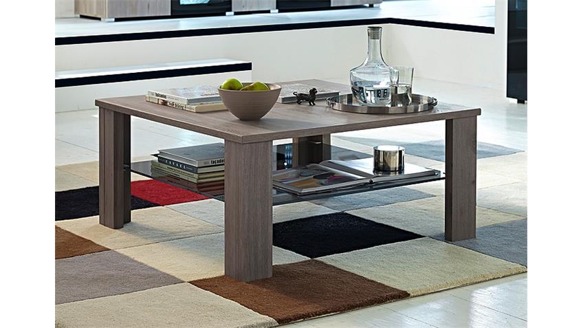 Couchtisch BLACKLIGHT Tisch Silbereiche und Schwarzglas 90