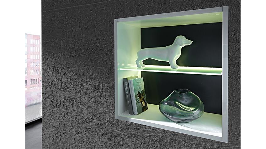 Hängeregal MEDIAN Regal Hängeelement weiß grau inkl. LED
