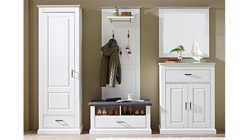 Garderobenschrank 2 LIMA Garderobe Pinie hell und Taupe