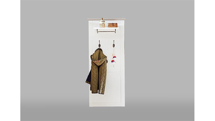 Garderobenset 4 LIMA Garderobe Pinie hell und Taupe