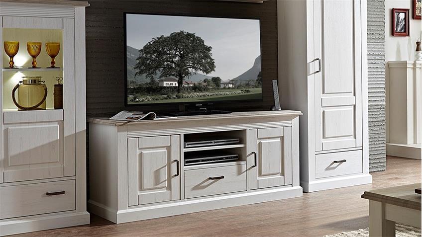 TV-Board LIMA Lowboard Unterschrank Pinie hell Taupe 150 cm