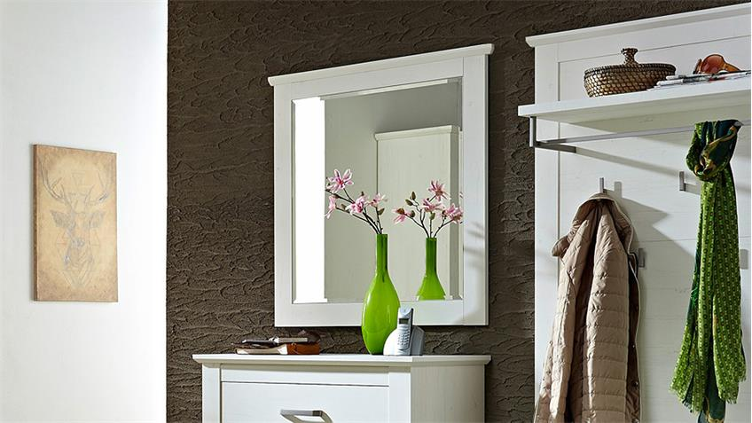 Spiegel MODENA Wandspiegel Dekospiegel in Pinie hell 90 cm