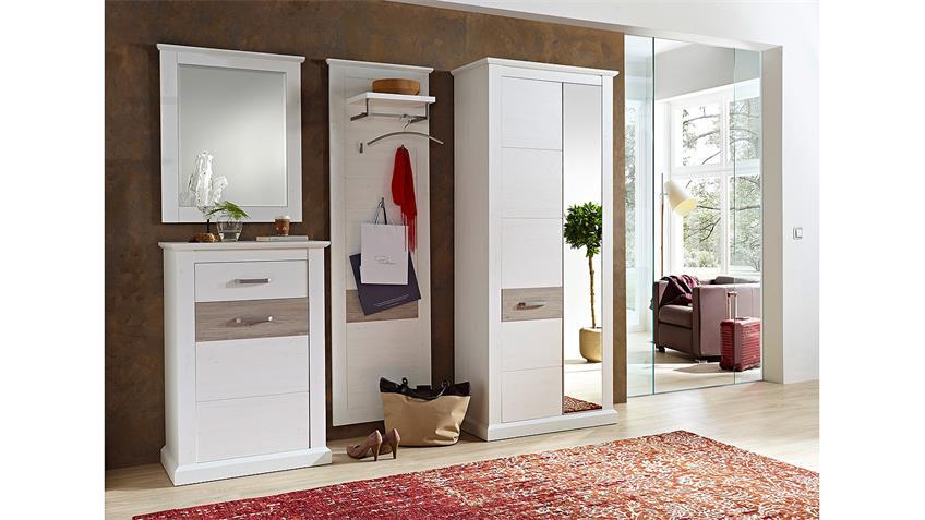 Garderobenset 5 MODENA Garderobe in Pinie hell und Taupe