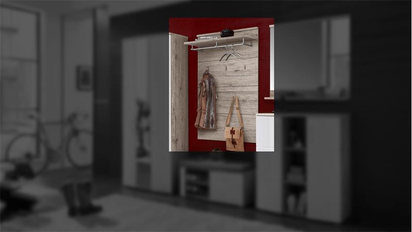 Garderobenpaneel RONDOS Garderobe Paneel Sandeiche