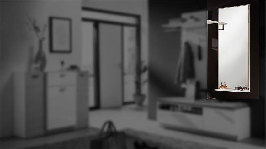 Spiegel DUO Wandspiegel Hängespiegel in weiß Hochglanz 50 cm