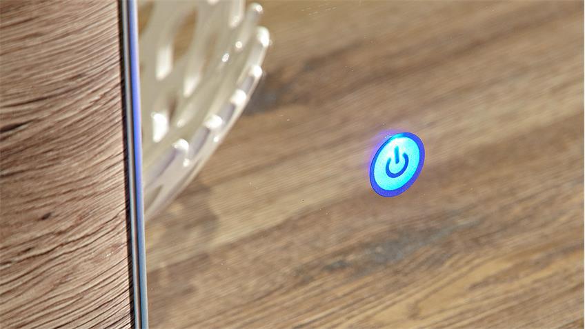 Garderobenset 1 FLAME in San Remo Eiche weiß Hochglanz LED
