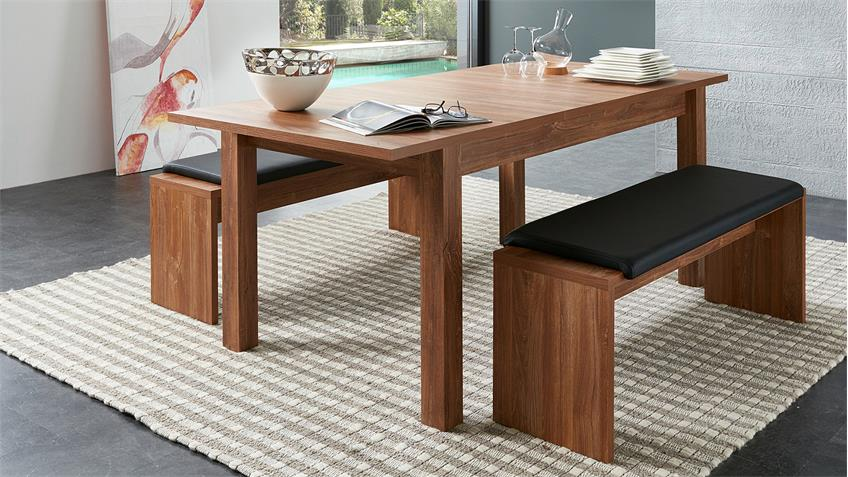Esstisch BANKO Tisch Esszimmertisch in Akazie 160-240