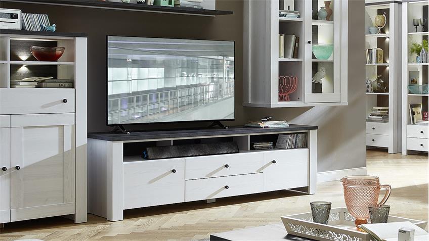 TV-Board ANTWERPEN Unterschrank Lärche Pinie dunkel 190