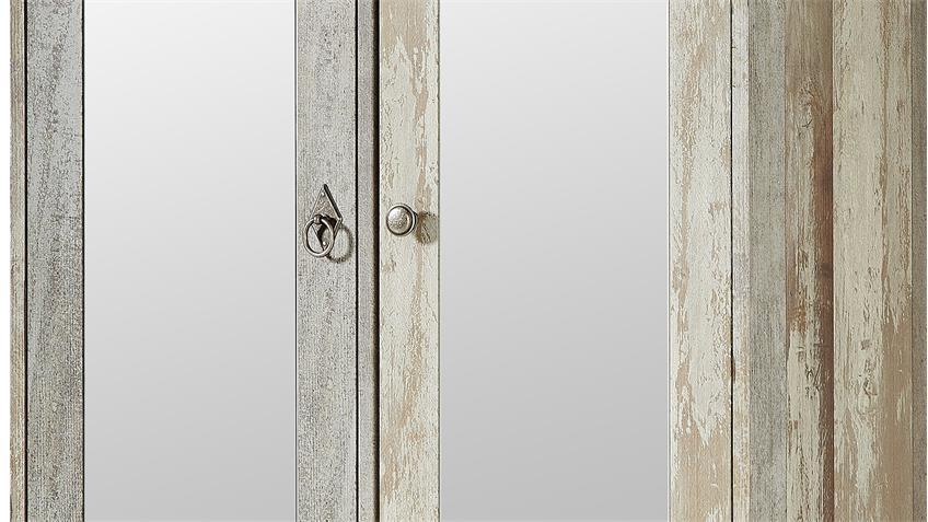 Garderobenschrank Bonanza in Treibholz Optik mit Spiegel 78 cm