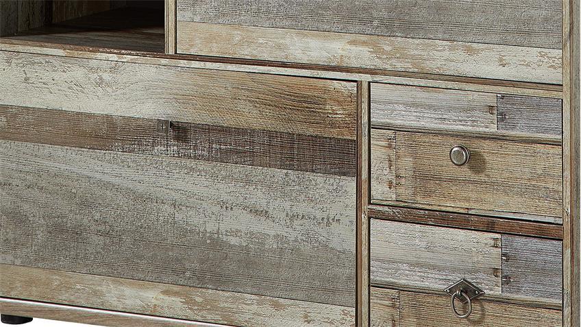 Schuhschrank BONANZA Schrank Driftwood B 99 cm