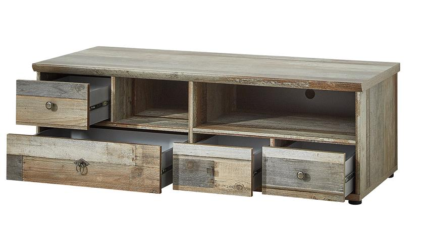 tv unterteil bonanza lowboard in driftwood b 130 cm. Black Bedroom Furniture Sets. Home Design Ideas