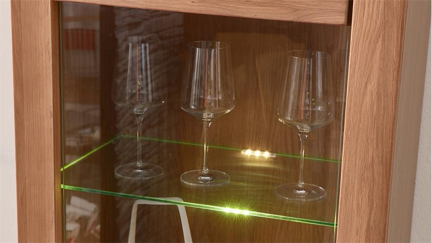 Wohnwand Wildeiche teilmassiv Anbauwand Moldau 1 mit LED