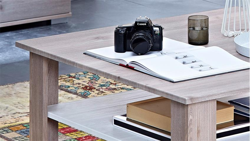 couchtisch landhaus malibu wohnzimmertisch silbereiche wei 90x90 cm. Black Bedroom Furniture Sets. Home Design Ideas