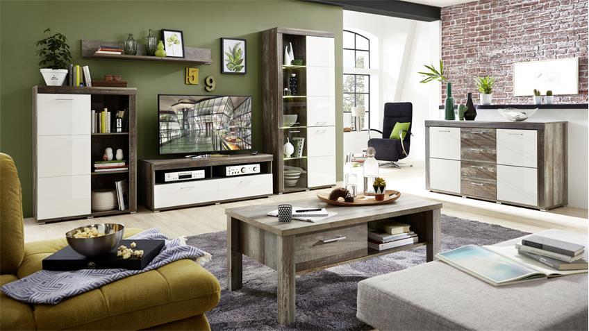 Couchtisch CROWN-X Beistelltisch Wohnzimmertisch in Driftwood 113x60